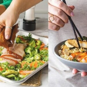 Roasted orange chicken ramen bowls (sponsored)