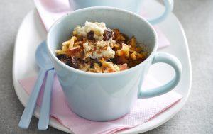 Apple oatmeal in a mug