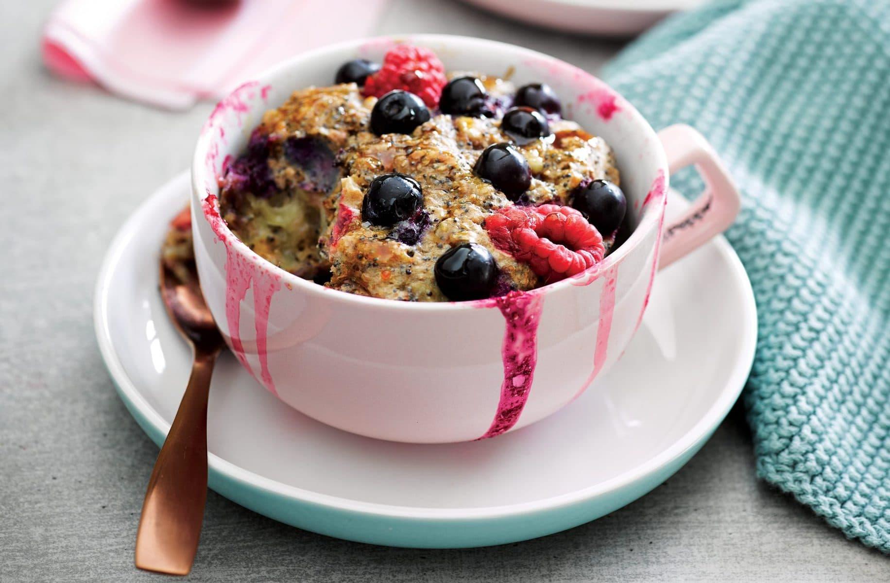 Breakfast muffin in a mug