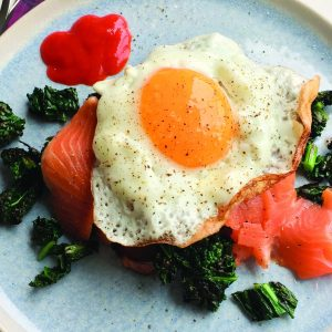 Easy salmon and kale toast