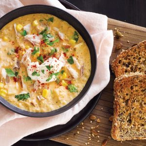Smoked fish chowder