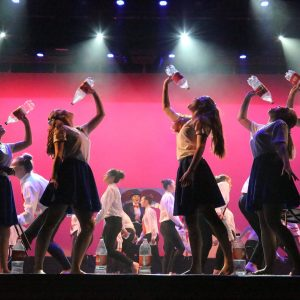Stage challenge performance focuses on sugary drinks