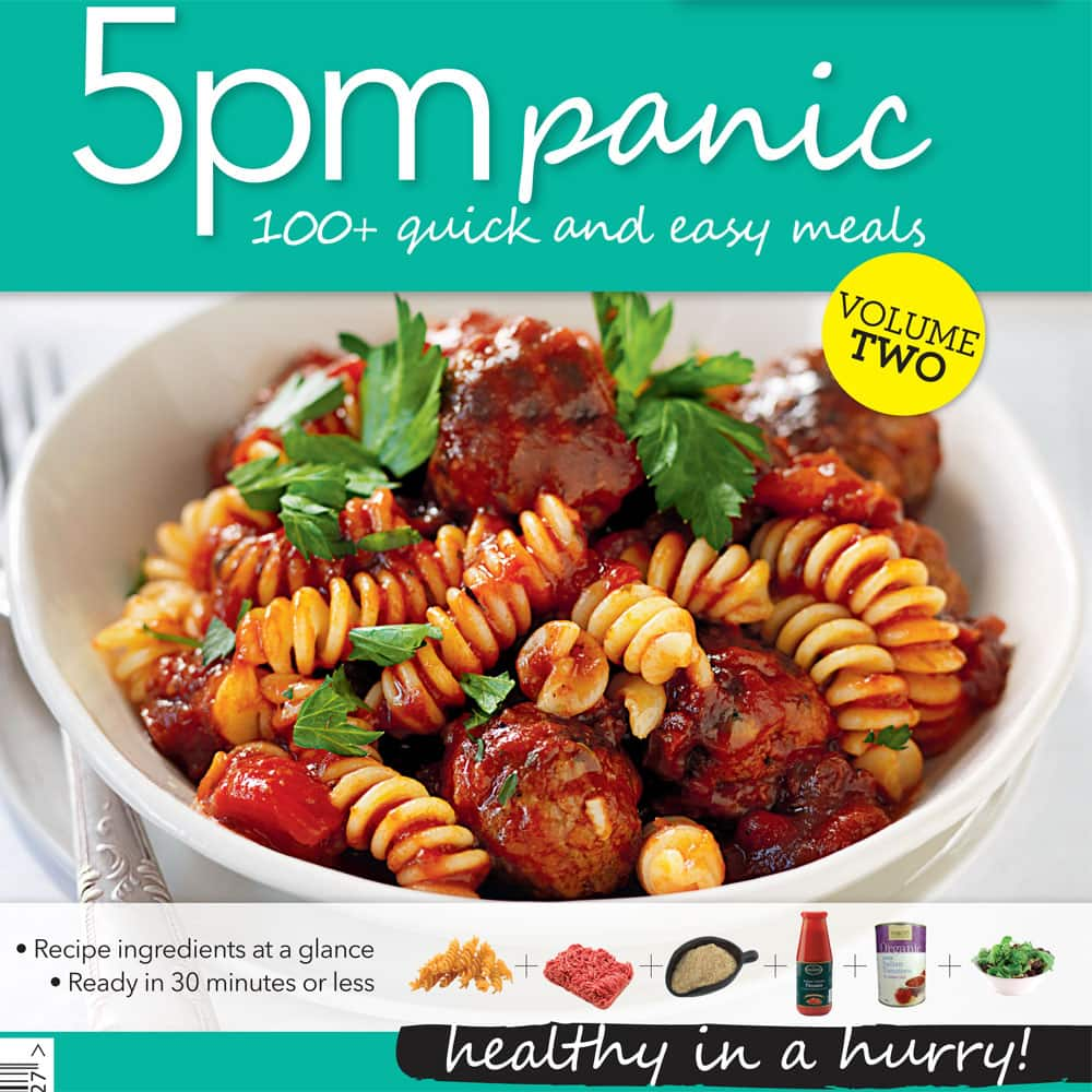 Recipe books product tags healthy food guide 5pm panic recipes vol 2 forumfinder Image collections