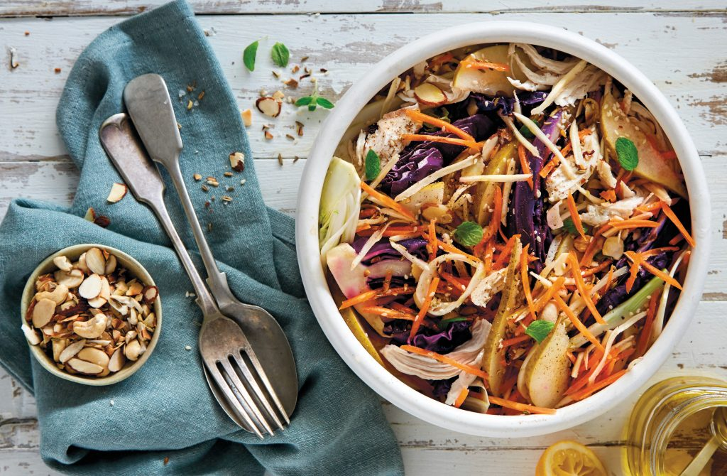 Chicken Fennel And Grilled Red Cabbage Slaw Healthy Food Guide