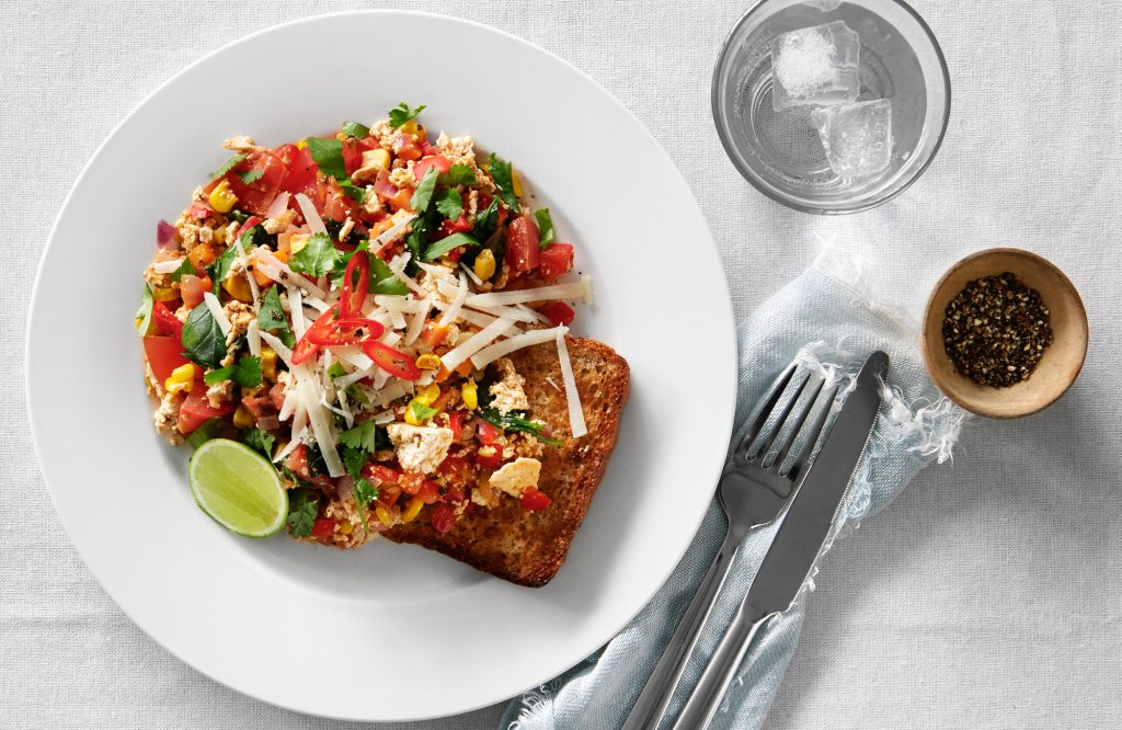 Mexi tofu scramble