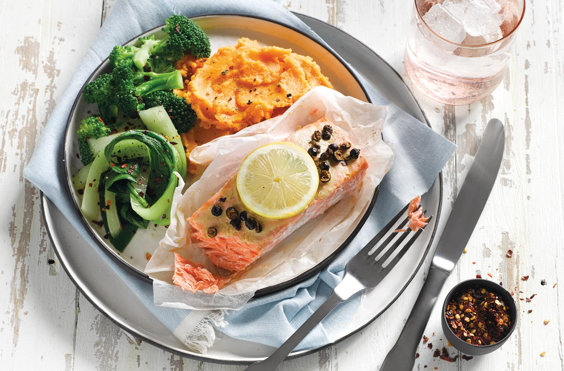 Meals for one recipe collections healthy food guide mustard and juniper berry salmon with kumara mash forumfinder Choice Image
