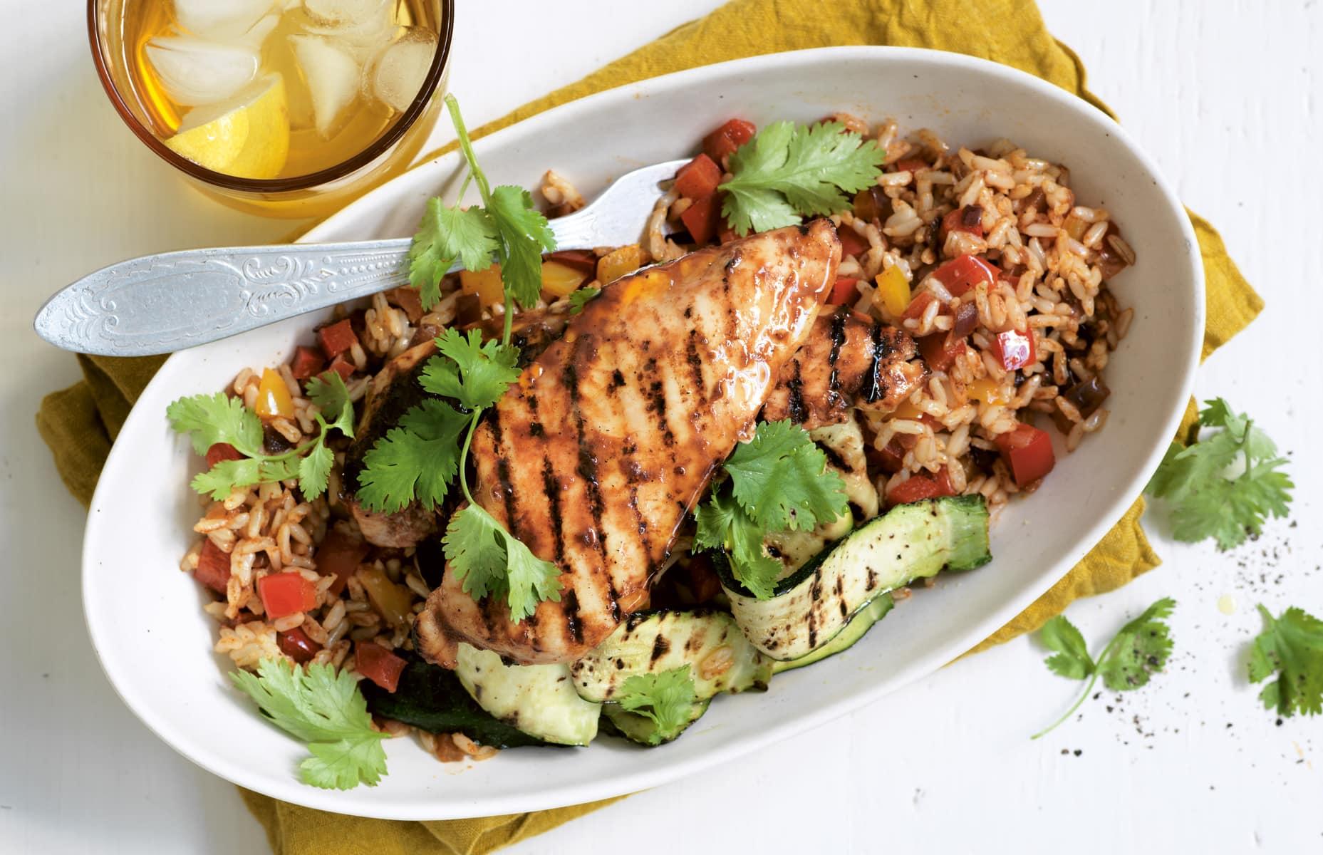 Healthy chicken recipes healthy food guide piri piri chicken with spanish style rice forumfinder Gallery