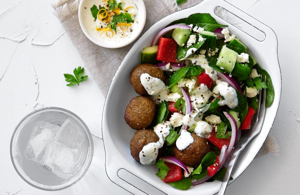 Crunchy Greek falafel salad (sponsored)