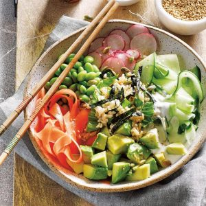 Avocado sushi bowl