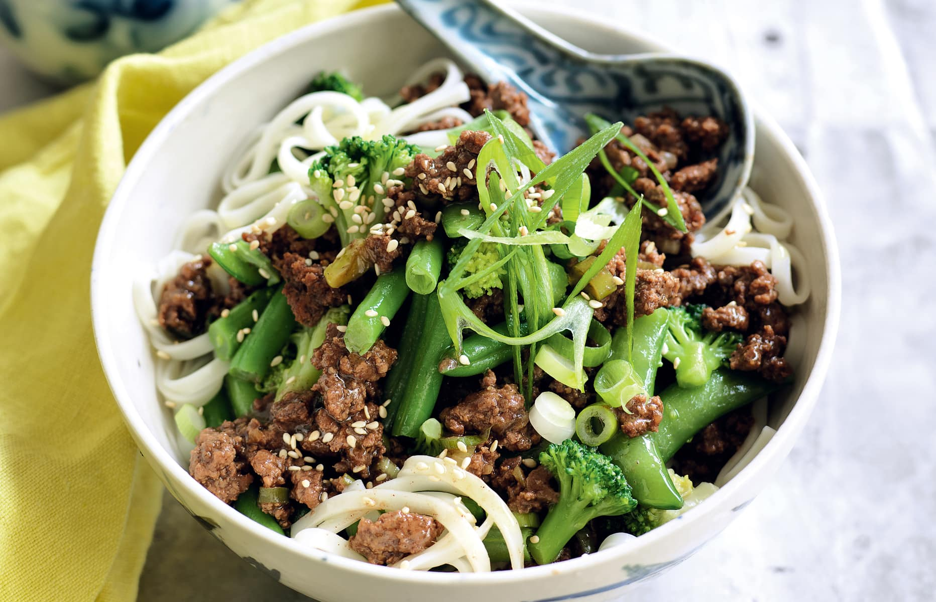 Chinese Style Mince With Noodles Healthy Food Guide