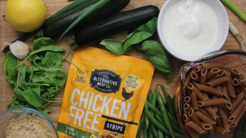 How to make: Creamy lemon and vege pasta with Chicken Free Strips (sponsored)