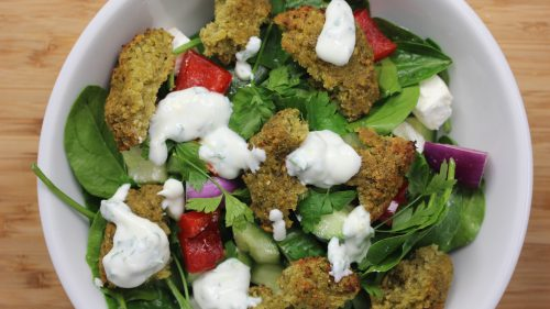 How to make: Crunchy Greek falafel salad (sponsored)