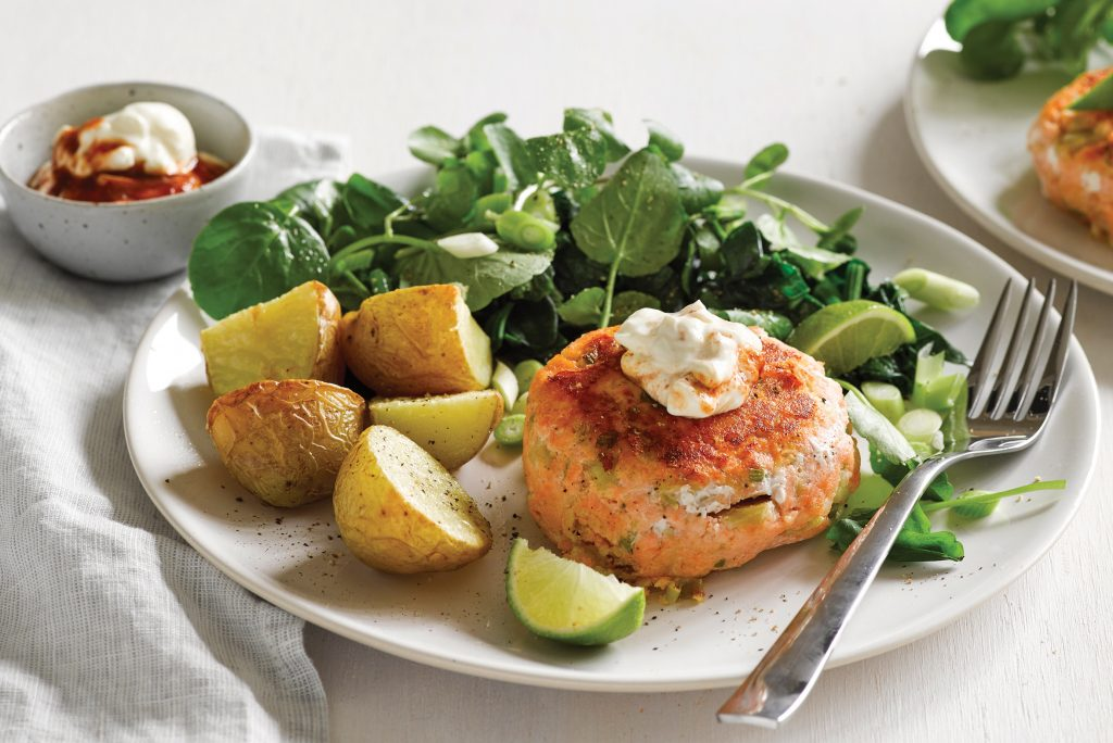 Salmon and ginger fish cakes