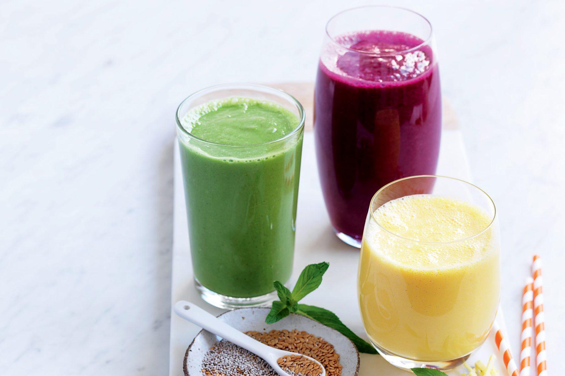 Purple berry and beet juice