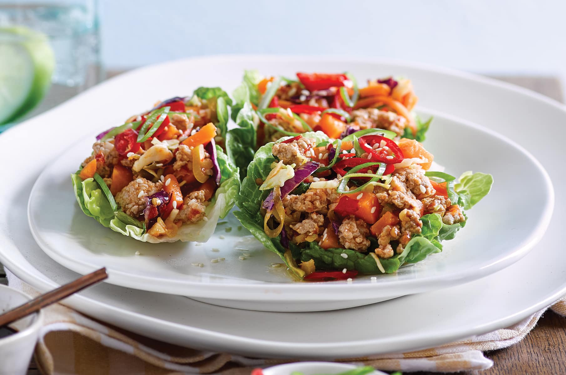 Meals for one archives healthy food guide spicy ginger pork with crispy lettuce cups forumfinder Image collections