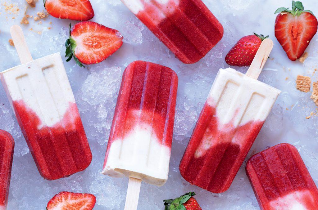 Strawberry shortcake pops