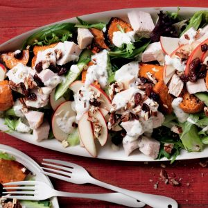 Turkey, kumara and pecan salad
