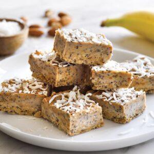 Banana nut butter fudge