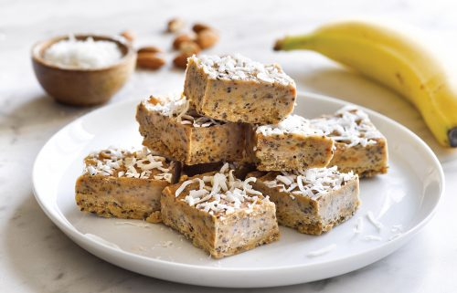Banana nut butter fudge