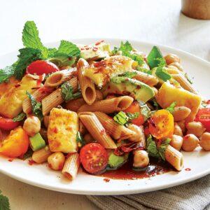 Haloumi pasta salad
