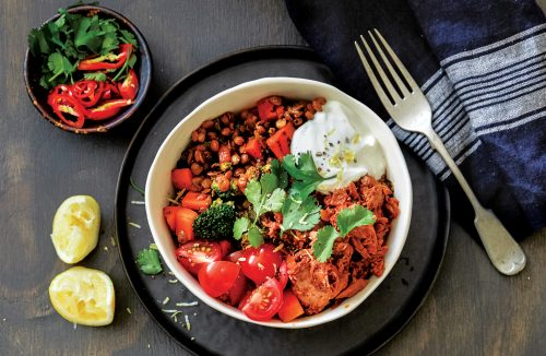 Mexican spiced lentils with chipotle tuna