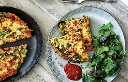 Potato, rocket and rosemary frittata