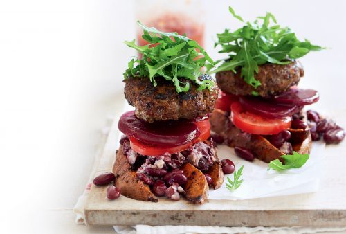 5pm panic recipe collections healthy food guide bunless mexican burgers forumfinder Gallery