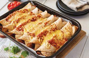 Chicken-vege enchiladas