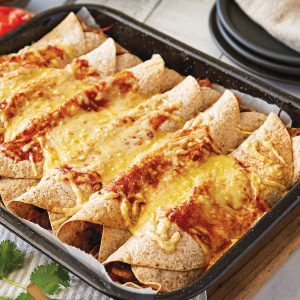 Chicken-vege enchiladas