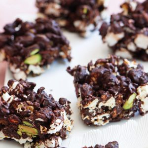 Dark chocolate rocky road