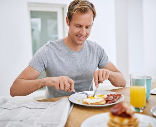 Everyday choices: Vegetarian or traditional big breakfast?