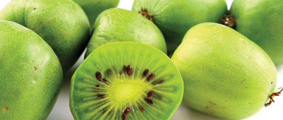 In season April: Kiwiberry, butternut squash, Jerusalem artichoke
