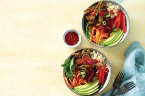 Turmeric ginger beef bowl