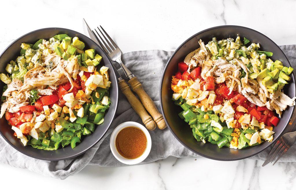Chicken avocado warm cobb salad