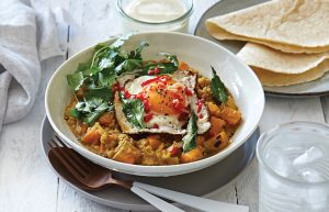 Spicy egg dhal with chilli and garlic oil