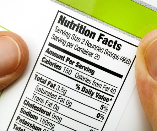 What has to be on a food label?