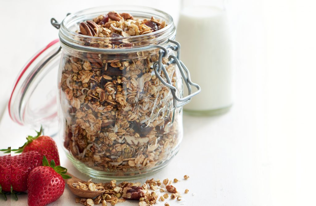 Buckwheat, date, coconut and pecan granola
