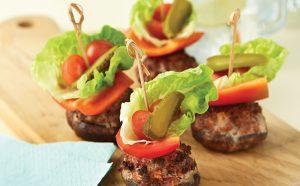 Mini mushroom burgers