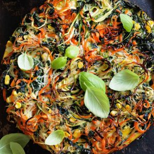 Noodle, vege and herb frittata