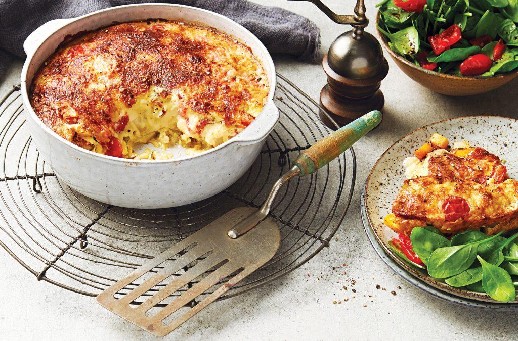 Potato and cheese clafoutis