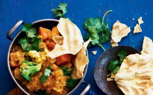 Lentil and kumara korma curry