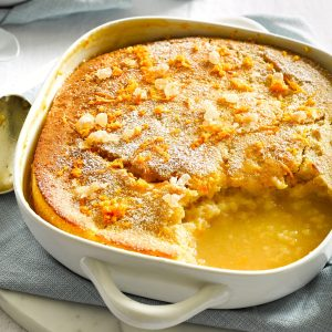 Orange and ginger self-saucing pudding