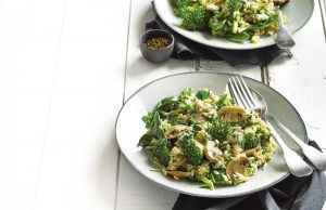 Quick broccoli and blue cheese risotto