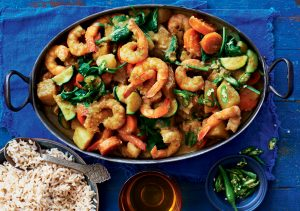 South Indian prawn and coconut curry