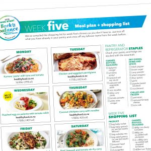 Kick-start meal plan: Week five