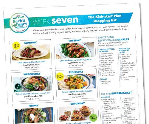 Weight-loss meal plan: Week seven