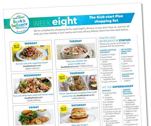 Kick-start meal plan: Week eight