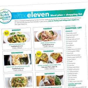 Weight-loss meal plan: Week eleven