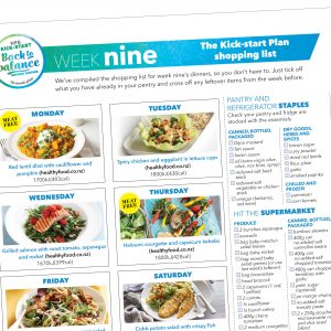 Kick-start meal plan: Week nine