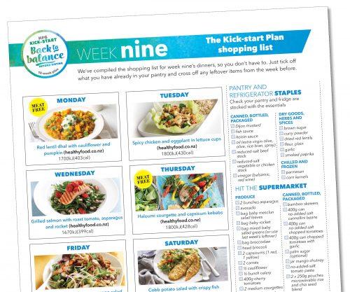 Kick-start meal plan: Week nine